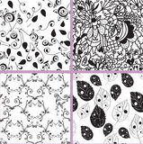 Black and white seamless patterns Royalty Free Stock Image