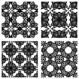 Black and white seamless patterns Royalty Free Stock Photography