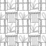 Black and white seamless patterns with gift boxes for coloring. Black and white seamless patterns with gift boxes for coloring book, page. Festive background Royalty Free Stock Photo