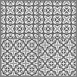 Black and white patterns 1. Black and white seamless patterns. Vector illustration Stock Image