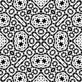 Black and white seamless repeat pattern and background vector image Stock Photo