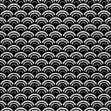 Black and white seamless repeated geometric art pattern background. Textile, books. stock illustration