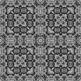 Black and white Seamless Repeating Vector Pattern Royalty Free Stock Photos