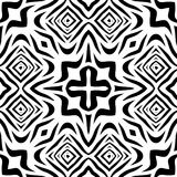 Black and white Seamless Repeating Vector Pattern. Vector illustration, multi uses for background, wallpapers, printing etc Stock Image