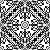 Black and white Seamless Repeating Vector Pattern. Vector illustration, multi uses for background, wallpapers, printing etc Royalty Free Stock Images