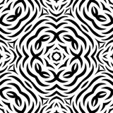 Black and white Seamless Repeating Vector Pattern. Vector illustration, multi uses for background, wallpapers, printing etc Royalty Free Stock Photo