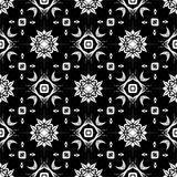 Vector BLACK WHITE SEAMLESS PATTERN DESIGN. Black and white Seamless Repeating Vector Pattern. Elegant Design in Baroque Style Background Texture. Black and Stock Image