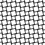 Black and white seamless square grid pattern - vector background design from angular squares. Black and white seamless geometric square grid pattern - vector Stock Photo