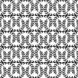 Black and white seamless texture Olympiad, in the form of a Laur. El wreath of the winner. Ornament patterns Royalty Free Stock Photo