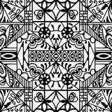 Black and white seamless texture. Vector geometric pattern.  Royalty Free Stock Images