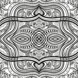 Black and white seamless texture. Vector geometric pattern.  Stock Image
