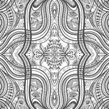 Black and white seamless texture. Vector geometric pattern.  Royalty Free Stock Photo