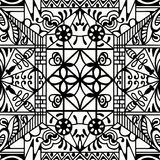 Black and white seamless texture. Vector geometric pattern.  Stock Photography