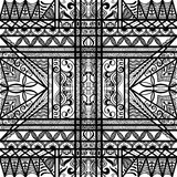Black and white seamless texture. Vector geometric pattern.  Stock Photo