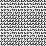 Black and white seamless triangle geometrical pattern Royalty Free Stock Image