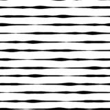 Black and white seamless vector background. Black hand drawn horizontal strokes in rows on white background. Wavy doodle lines. vector illustration