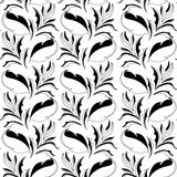 Black and white seamless wallpaper Royalty Free Stock Image