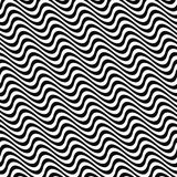 Black white seamless wave pattern Stock Photography