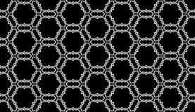 Black and white seamless wire checks geometrical pattern. A seamless, repeating geometrical vector wire checks pattern in black and white.. best for fabric print stock illustration