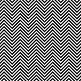 Black and white seamless zig zag line pattern. Background Stock Images