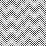 Black and white seamless zig zag line pattern Royalty Free Stock Image