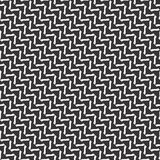 Black and white seamless zigzag geometrical pattern Royalty Free Stock Photo