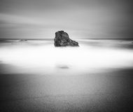 Black and white seascape Royalty Free Stock Photo