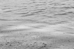 Black and white seashore textures. Black and white composition of a calm seashore Royalty Free Stock Images