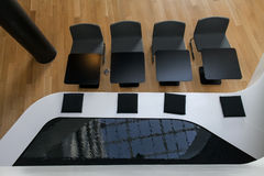 Black and White Seats Royalty Free Stock Photo
