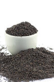 Black and white sesame in a bowl Royalty Free Stock Photography