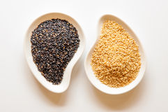 Black and white sesame seeds. Stock Photography