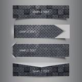 Black and White Set of Four Header Designs Royalty Free Stock Photos