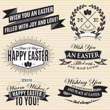 Black and white set of labels on Easter Royalty Free Stock Photo