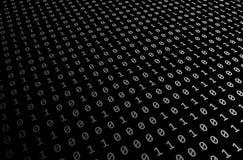 Black-white Set of random binaries captured Stock Photo