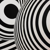Black and white seventies inspired psychedelic retro pattern Stock Photos