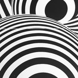 Black and white seventies inspired psychedelic retro pattern Royalty Free Stock Photos