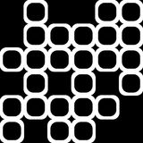 Black and white shapes. Texture of white rounded cubes on black Royalty Free Stock Photo