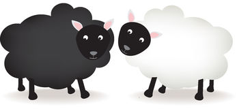 Black and white sheep Royalty Free Stock Photography