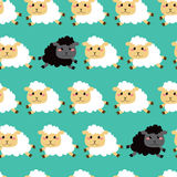 Black And White Sheep Pattern Stock Photos