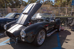 Black and white 1965 Shelby Cobra Royalty Free Stock Image