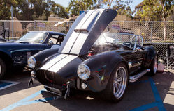 Black and white 1965 Shelby Cobra Royalty Free Stock Photography