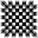 Black and white shifted tiles Stock Images