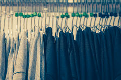 Black and white shirt on hangers Royalty Free Stock Photography