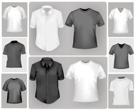Black and white shirts. Royalty Free Stock Image