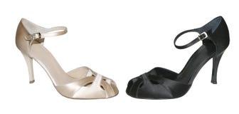 Black & white shoes Royalty Free Stock Photos