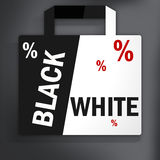 Black White Shopping Bag Stock Images