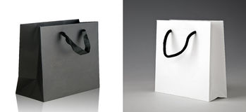 Two Black Paper Shopping Bags Stock Photos, Images, & Pictures ...