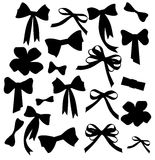 Black and white silhouette image of bow set Stock Photo