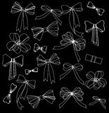 Black and white silhouette image of bow set Royalty Free Stock Photo
