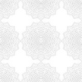 Black and white silhouette of snowflakes, seamless pattern  Royalty Free Stock Images